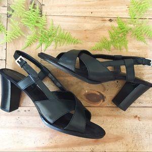 Bandolino Strappy Leather Heels